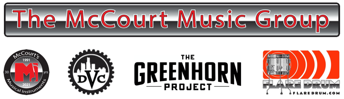 Logos for the McCourt's Music family of companies